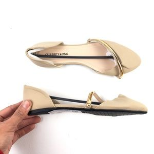 Celebrity Pink Pointed-Toe Flats DR02579